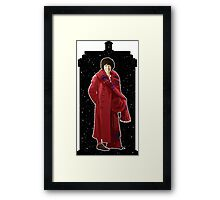 Fourth Doctor and The TARDIS Framed Print