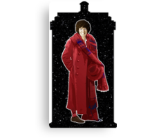 Fourth Doctor and The TARDIS Canvas Print