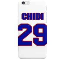 National football player Chidi Iwuoma jersey 29 iPhone Case/Skin