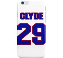 National football player Clyde Powers jersey 29 iPhone Case/Skin