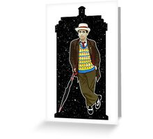 Seventh Doctor and The TARDIS Greeting Card