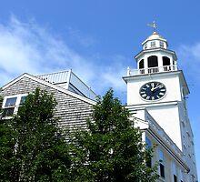 #507   Unitarian Church Clock Tower Of Nantucket by MyInnereyeMike