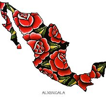 Mexico Map by alxbngala