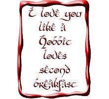 Valentine's Day #5 - Hobbit Love Photographic Print