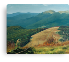 Bieszczady - View of Smerek from Mala Rawka Canvas Print