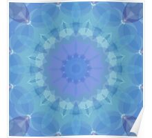Blue and Turquoise Pattern Poster