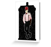 Eleventh Doctor and The TARDIS Greeting Card