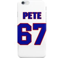 National football player Pete Case jersey 67 iPhone Case/Skin