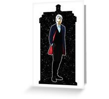 Twelfth Doctor and The TARDIS Greeting Card