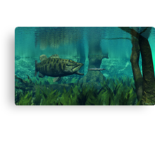 Smallmouth Bass on the Chase Canvas Print