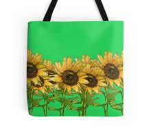 Sunflowers Green Tote Bag