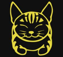 Happy Cat - Tabby  (yellow) - Small pic by artbyakiko