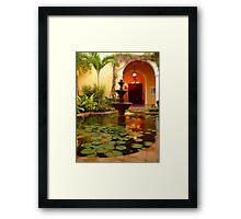 Fountain at Villa Merida Framed Print