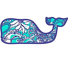 Lilly Pulitzer Whale Montauk Summer Photographic Print