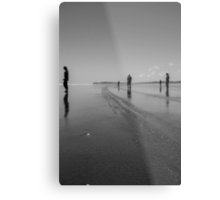 Silhouettes on the Sand Metal Print