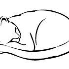 Sleepy Cat Study by Arie van der Wijst