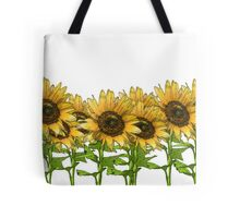 Sunflowers White Tote Bag