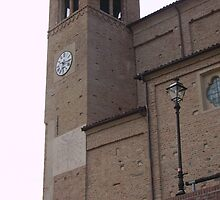 Church Clock in Monticello d'Alba Italy by katekreations