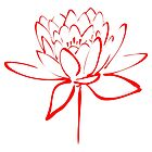 Lotus Flower Calligraphy (Red) by Makanahele