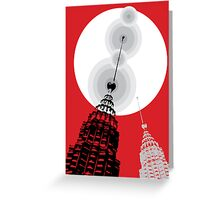 Towers of Asia Greeting Card