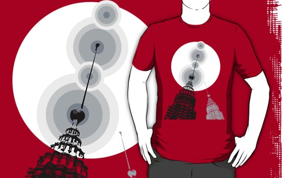 Towers of Asia T-shirt by fatfatin