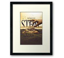 Commandment 8 - Thou Shalt Not Steal Framed Print