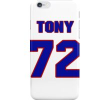 National football player Tony DiMidio jersey 72 iPhone Case/Skin