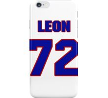 National football player Leon Donohue jersey 72 iPhone Case/Skin