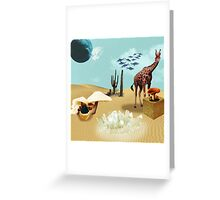 Green and breathing Planet Greeting Card