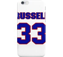 National football player Russell Wayt jersey 33 iPhone Case/Skin