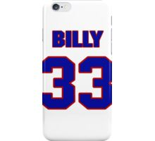 National football player Billy Ray jersey 33 iPhone Case/Skin