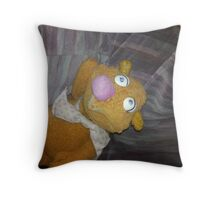 Battered Fozzie Bear. Throw Pillow