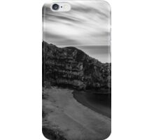 Durdle Door in black and white iPhone Case/Skin