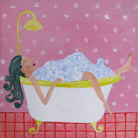 Taking a bath by Sanne Thijs