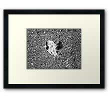 Silver Heart Framed Print