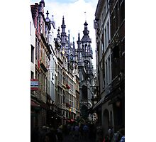 The Old street in Brussels (Belgium) Photographic Print