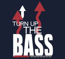 TURN UP THE BASS, white on dark :] by NIC1D