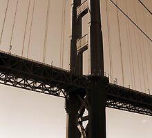 Golden Gate in Sepia by Kristin Nichole Hamm