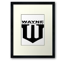 Wayne Enterprises Employee - Dawn of Justice Framed Print