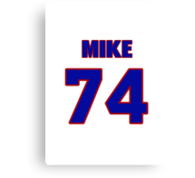 National football player Mike McCurry jersey 74 Canvas Print