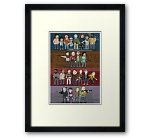 The Four Groups Framed Print