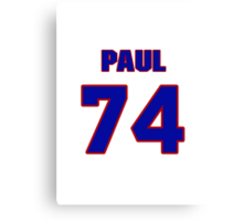 National football player Paul Oglesby jersey 74 Canvas Print