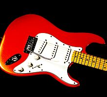 My Red Guitar by Paul Reay