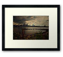 Sky Breakage on 9/11 Framed Print