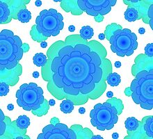 Retro Style Decorative Abstract Pattern by DFLC Prints
