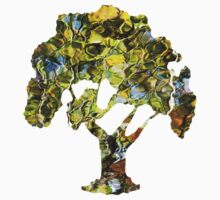 Abstract Tree Reflection Kids Clothes