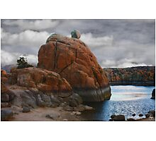 Etherial Boulder Photographic Print