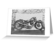 Wrecked Motorcycle Greeting Card