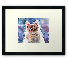 RED KITTEN Framed Print