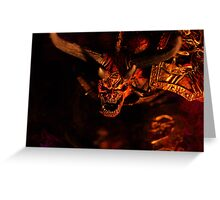 Demon Lord of War Greeting Card